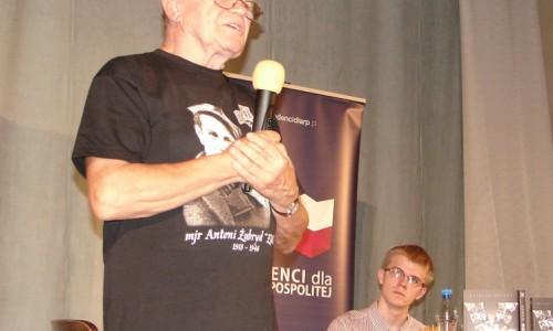 Janusz Niemiec na spotkaniu w Łodzi